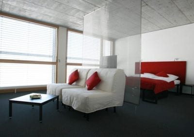 cube hotel suite sofabed