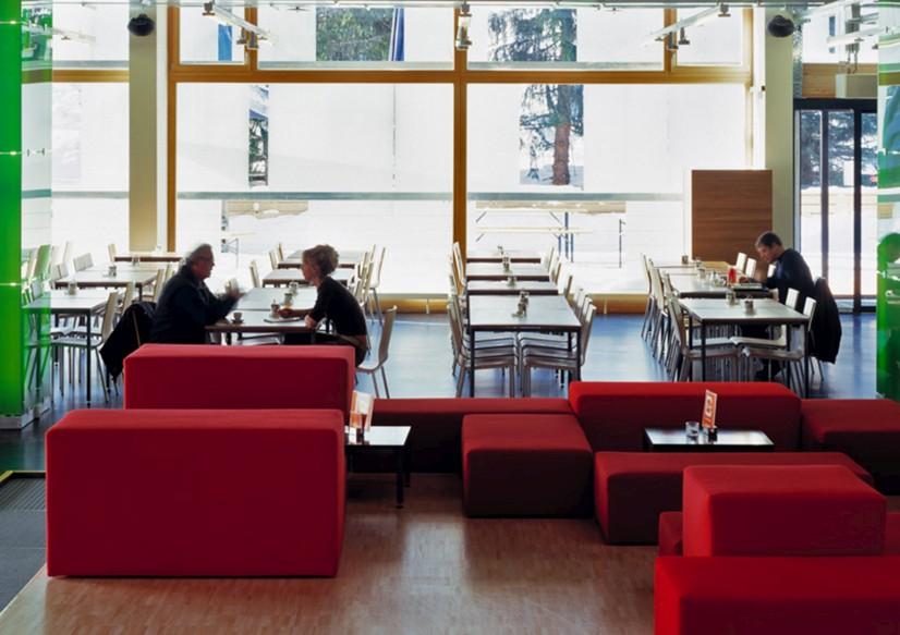cube savognin lobby restaurant