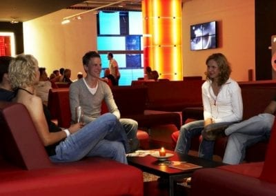 CUBE Savognin lounge lobby guests chill out